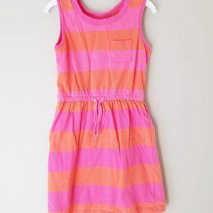 Gap Kids Size small orange and pink cotton dress